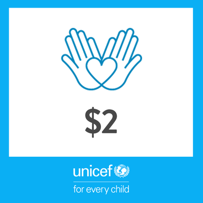 2 USD Donation to UNICEF