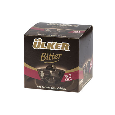 80% Dark Chocolate Square, 2.47oz - 70g 6 pack