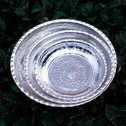 Appetizer Copper Plate Set , 3 Pieces - Thumbnail