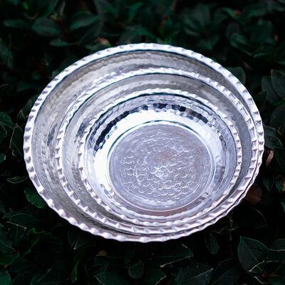 Appetizer Copper Plate Set , 3 Pieces