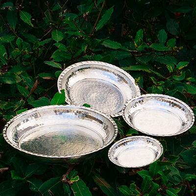 Appetizer Copper Plate Set , 4 Pieces