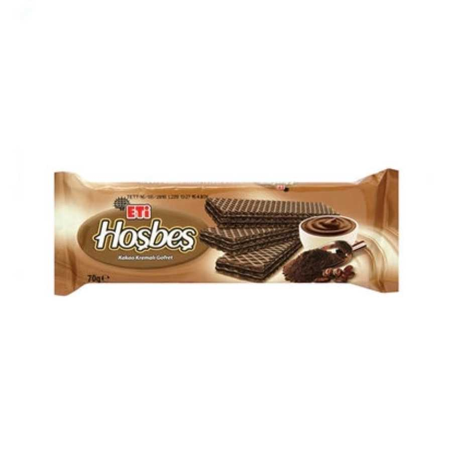 Hosbes Cocoa Wafer With Cocoa Cream 70g 3 Pack Wafer Under 9 Eti