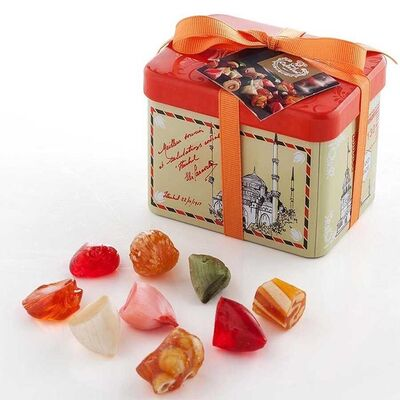 Assorted Istanbul Rock Candy in Tin Box , 7.1oz - 200g