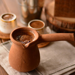 Bambum Mırra Earthenware Coffee Pot - Thumbnail
