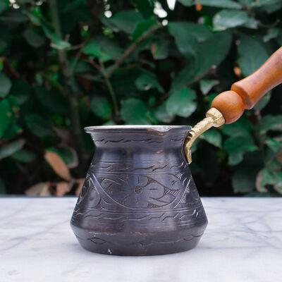 Black Copper Coffee Pot