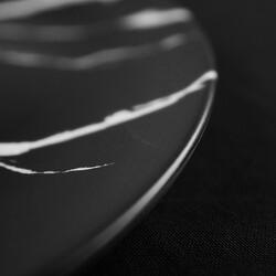 Black Dinner Plate , 10.2 x 1.1 inch - Thumbnail