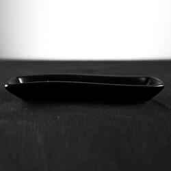 Black Snack Plate , 7 x 1.5 x 1.1 inch - Thumbnail