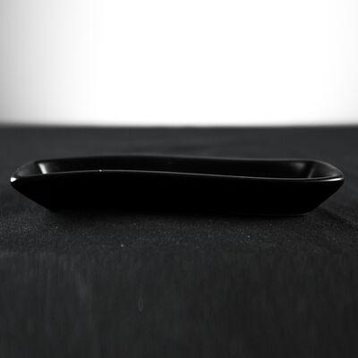 Black Snack Plate , 7 x 1.5 x 1.1 inch