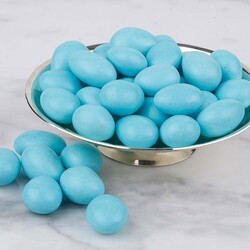 Blue Chocolate Covered Almond Dragee, 1.1lb - 500g - Thumbnail