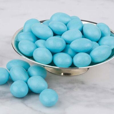 Blue Chocolate Covered Almond Dragee, 1.1lb - 500g