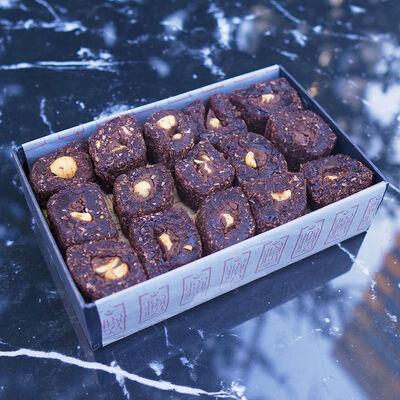 Brownie Chocolate Turkish Delight With Hazelnut , 12oz - 350g
