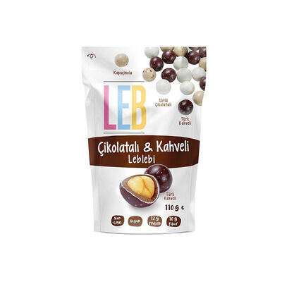Chocolate and Coffee Flavored Roasted Chickpeas , 3.8oz - 110g