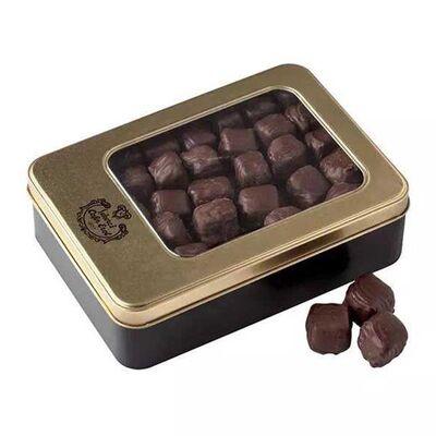 Chocolate Coated Double Roasted Pistachio Turkish Delight - Tin Box , 17.6oz - 500g