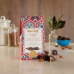 Chocolate Coated Turkish Delight With Double Roasted Almond, 4oz - 125g - Thumbnail