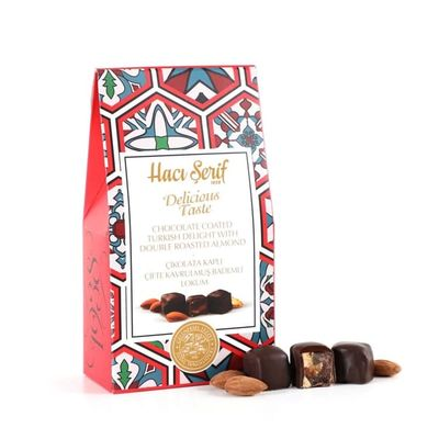 Chocolate Coated Turkish Delight With Double Roasted Almond, 4oz - 125g