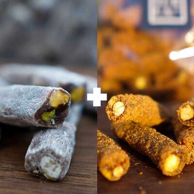 Cinnamon Flavored Sultan Turkish Delight - Biscuits Covered Sultan Turkish Delight
