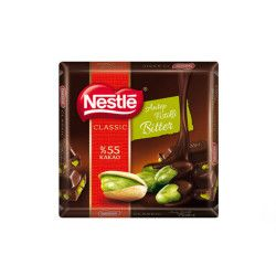 Nestlé - Classic Pistachio Bitter Square Chocolate , 6 pieces