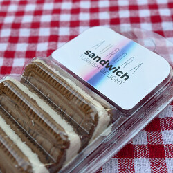 Cocoa Flavored Turkish Delight Sandwich , 6 Pieces - Thumbnail