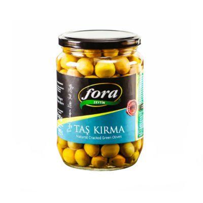 Cracked Green Olives , 400g - 14oz
