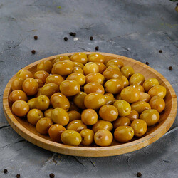 Cracked Green Olives , 400g - 14oz - Thumbnail