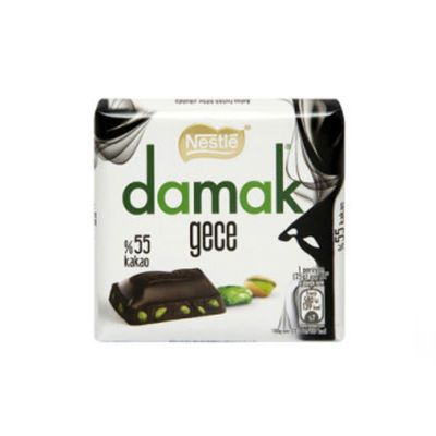 Damak Dark Pistachio Bitter Square Chocolate , 2 pack