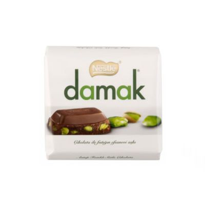 Damak Pistachio Milky Square Chocolate , 2 pack