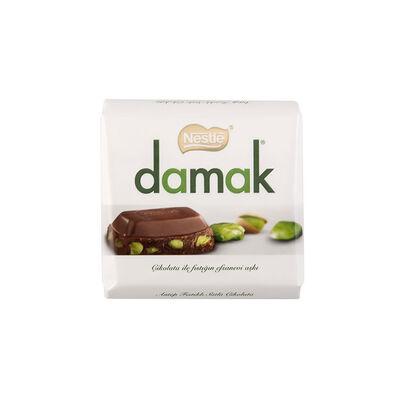 Damak Pistachio Milky Square Chocolate, 2.29oz - 65g 6 pack
