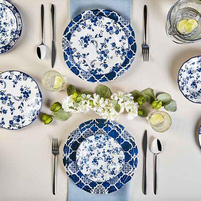 Deep Blue Dinnerware Set, 24 Pieces