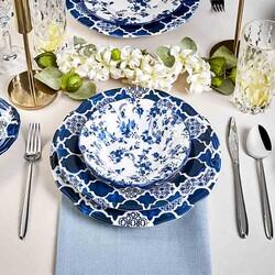 Deep Blue Dinnerware Set, 24 Pieces - Thumbnail