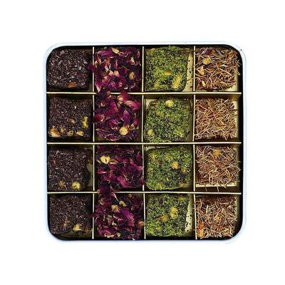 Delight Box of Rose, Pomegranate and Cacao Flavors , 16 pieces