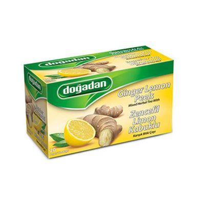Ginger Lemon Peel Mixed Herbal Tea , 20 teabags