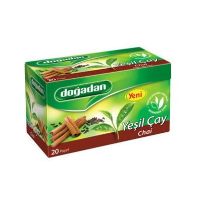 Green Tea with Chai , 20 teabags 2 pack