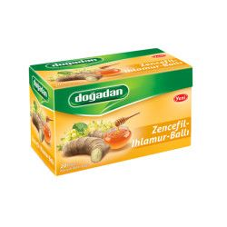 Doğadan - Herbal Tea with Ginger-Linden-Honey , 20 teabags