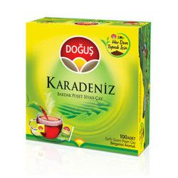 Doğuş - Black Sea Tea Pot Bags Turkish Tea , 100 teabags
