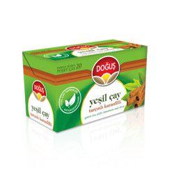 Doğuş - Green Tea Cinnamon-Carnation , 20 teabags