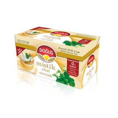 Mystic Chai Herbal Tea With Stevia , 20 teabags