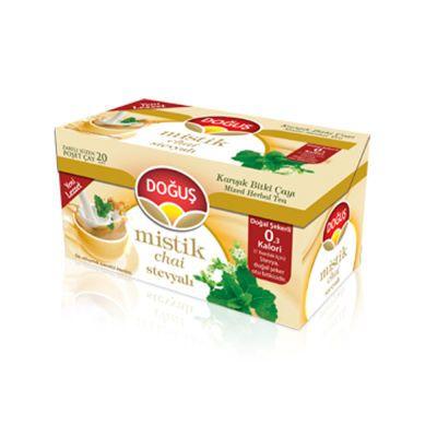 Mystic Chai Herbal Tea With Stevia , 20 teabags 2 pack