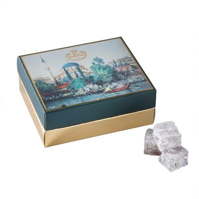 Double Roasted Pistachio Turkish Delight in Gift Box - Sandals , 5.3oz - 150g