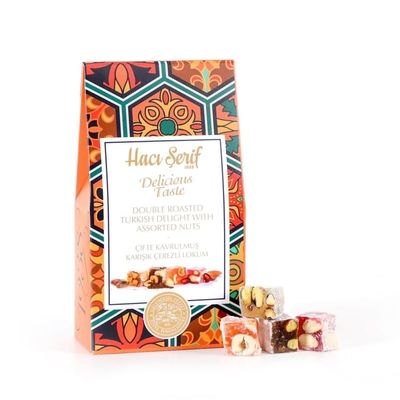 Double Roasted Turkish Delight With Assorted Nuts, 4oz - 125g