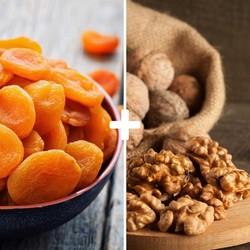 Dried Apricot and Shelled Walnuts - Thumbnail