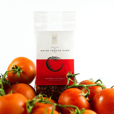 Dried Tomato Cubes , 3.5oz - 100g