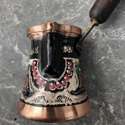 Erzincan Colorful Copper Coffee Pot