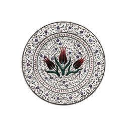 gifturca - Handmade Estuary Patterned Tile Dinner Plate , 10inch 25cm