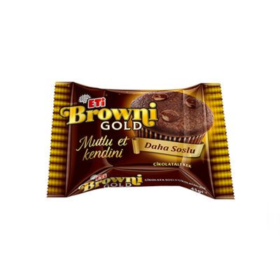 Browni Gold Chocolate Cake with Cocoa Sauce , 6 pack