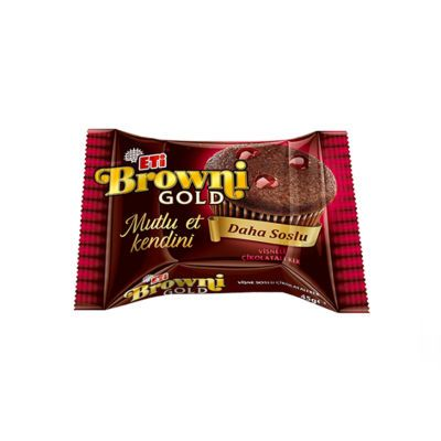 Browni Gold Chocolate Cake with Sour Cherry Sauce , 6 pack