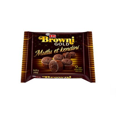 Browni Gold Mini Chocolate with Chocolate Sauce , 2 pack