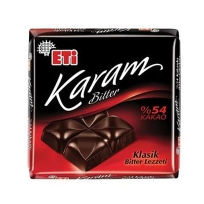 Eti Karam 54% Cocoa Square Chocolate , 70g 2 pack