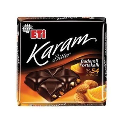 Eti Karam Bitter Almond Orange Square Chocolate , 70g 2 pack