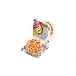 Eti - Puf Granulated Coated Marshmallow Biscuits With Fruit Box , 48 pieces