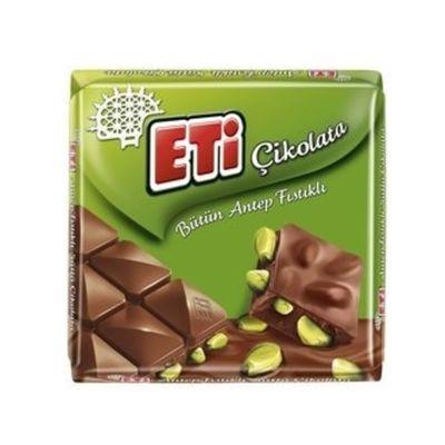 Eti Square Chocolate with Pistachio , 75g 2 pack